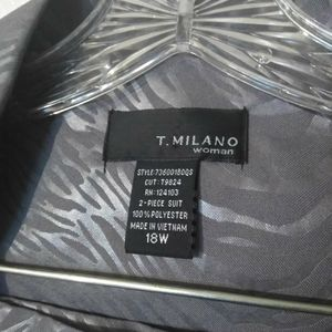T MILANO Dresses - T MILANO NEW 2 PC GRAY TIGER STRIPE SKIRT SET